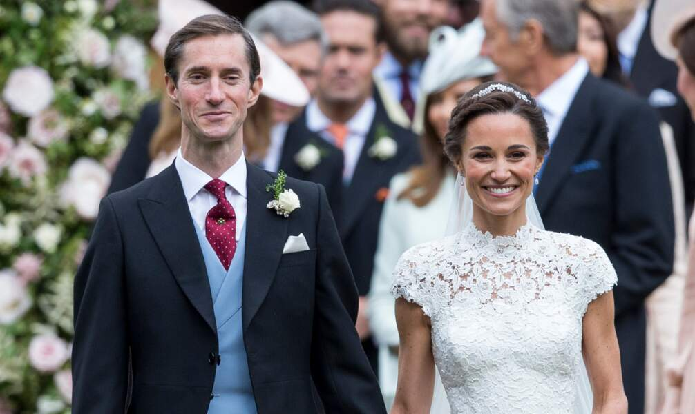 Pippa Middleton et son mari James Matthews en l'Eglise St Mark Englefield le 20 mai 2017