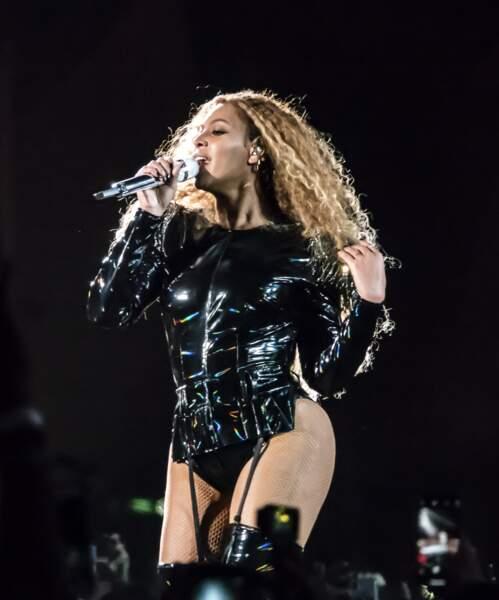 Beyonce en concert au festival de musique de Coachella, le 15 avril 2018