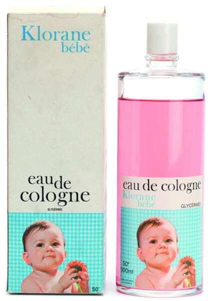L'eau de cologne pour bébé