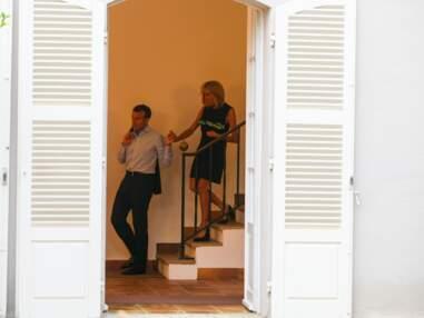 Brigitte et Emmanuel Macron reçoivent Theresa May et son époux au Fort de Brégançon