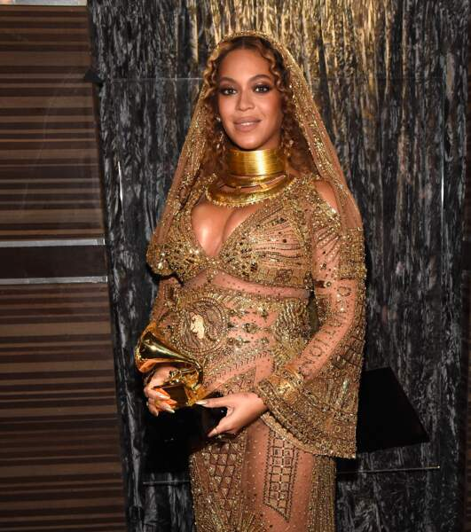 La star est repartie gagnante de deux Grammy Awards