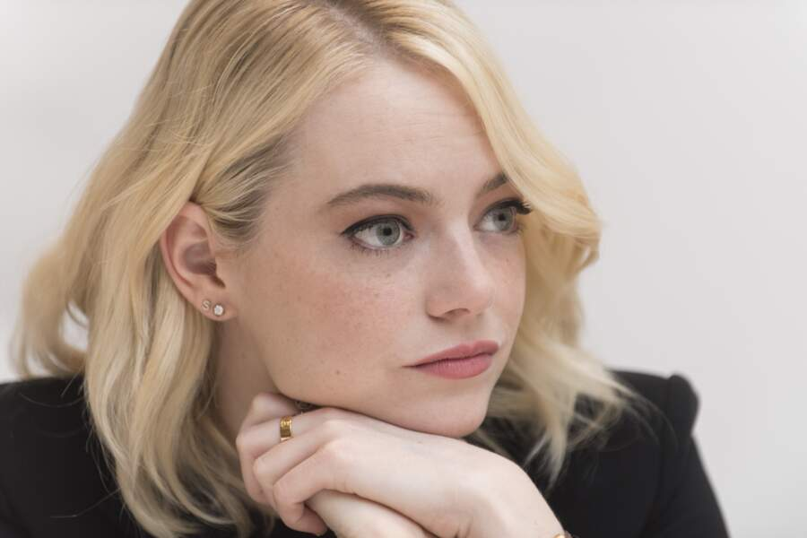"Emma Stone en conférence de presse pour ""Battle of the Sexes"" à Toronto, le 11 septembre 2017"