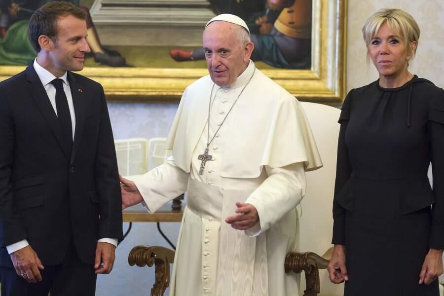 Brigitte Macron rencontre le pape François au Vatican, le 26 juin 2018
