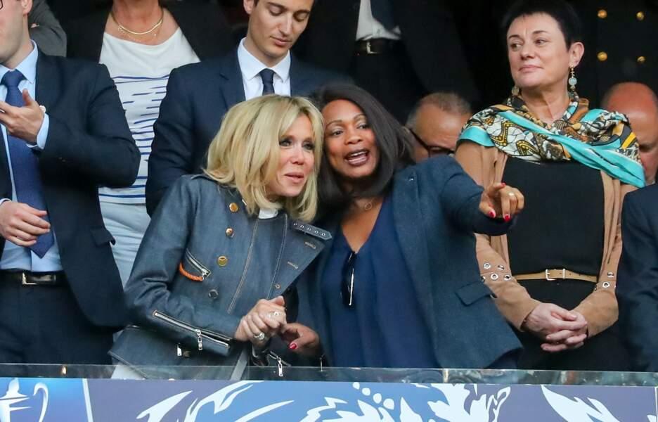 La Première dame Brigitte Macron et Laura Flessel-Colovic, ministre des Sports
