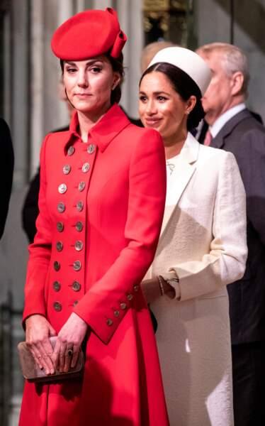 Meghan Markle, derrière Kate Middleton pour une question de protocole