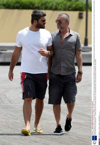 Février 2012: George et Fadi, amoureux quasi incognito, à Sidney, en Australie.