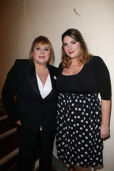 Michele Bernier et Charlotte Gaccio au théâtre La Nnouvelle Eve à Paris le 10 décembre 2012