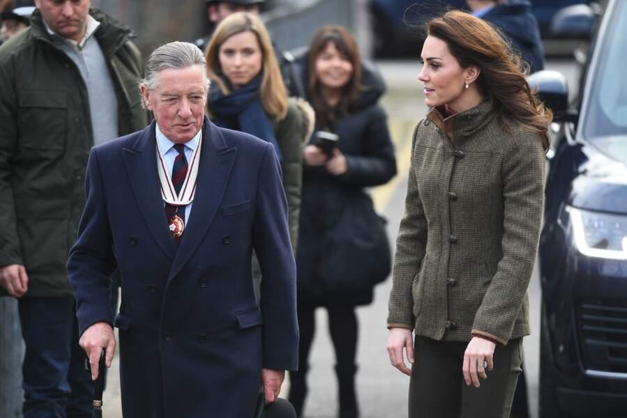 En octobre dernier, elle avait déjà visité le parc Paddington pour sensibiliser à la défense de l'environnement