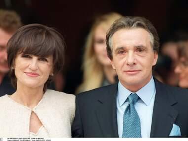 Anne-Marie Périer en robe de mariée Alaïa pour son mariage avec Michel Sardou