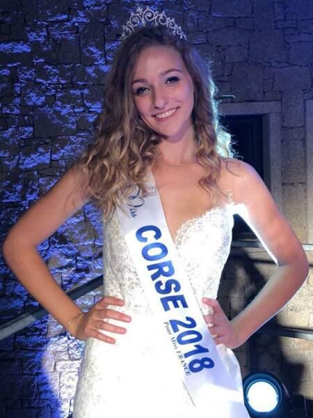 Manon Jean-Mistral, 18 ans, a été sacrée Miss Corse et tentera de devenir Miss France 2019
