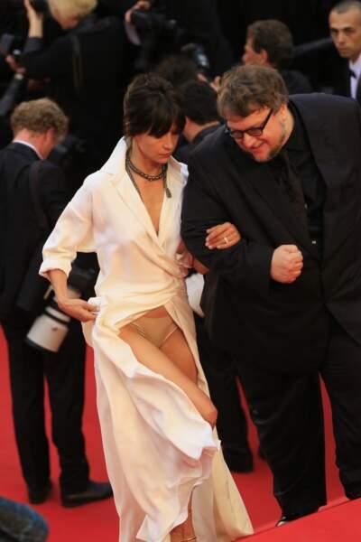 Après le haut en 2005, Sophie Marceau dévoile sa petite culotte sur les marches du festival de Cannes 2015.