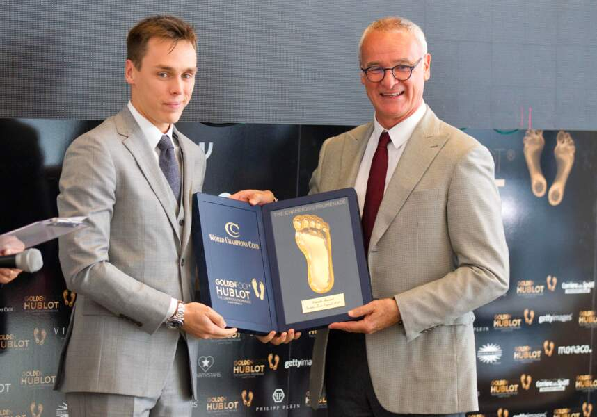 Louis Ducruet et Claudio Ranieri au Golden Foot Hublot Football