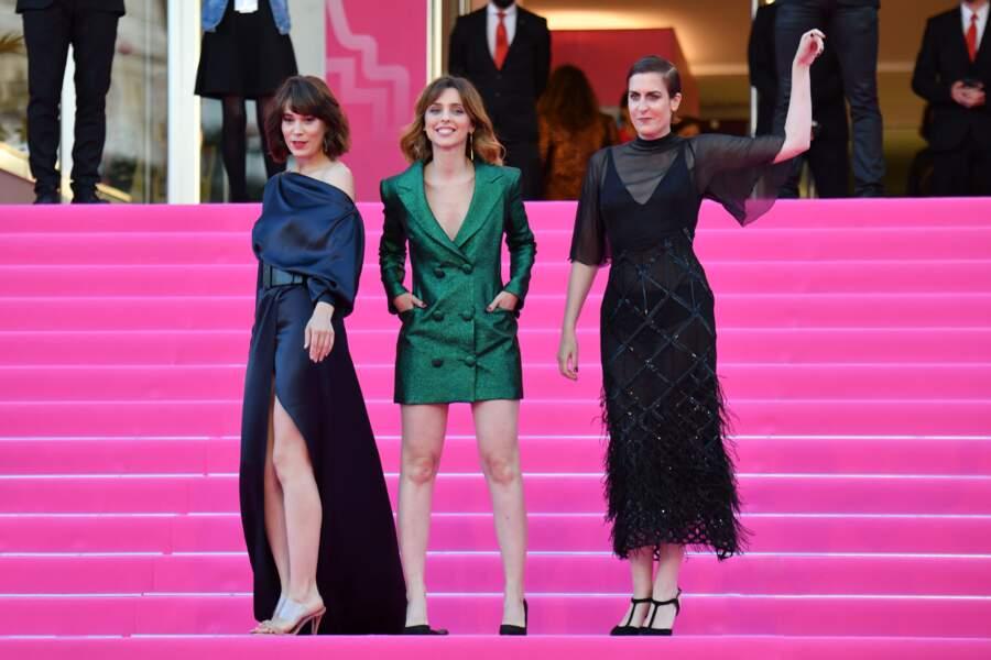 Leticia Dolera au centre, entourée de ses actrices Célia Freijeiro et Aixa Villagran