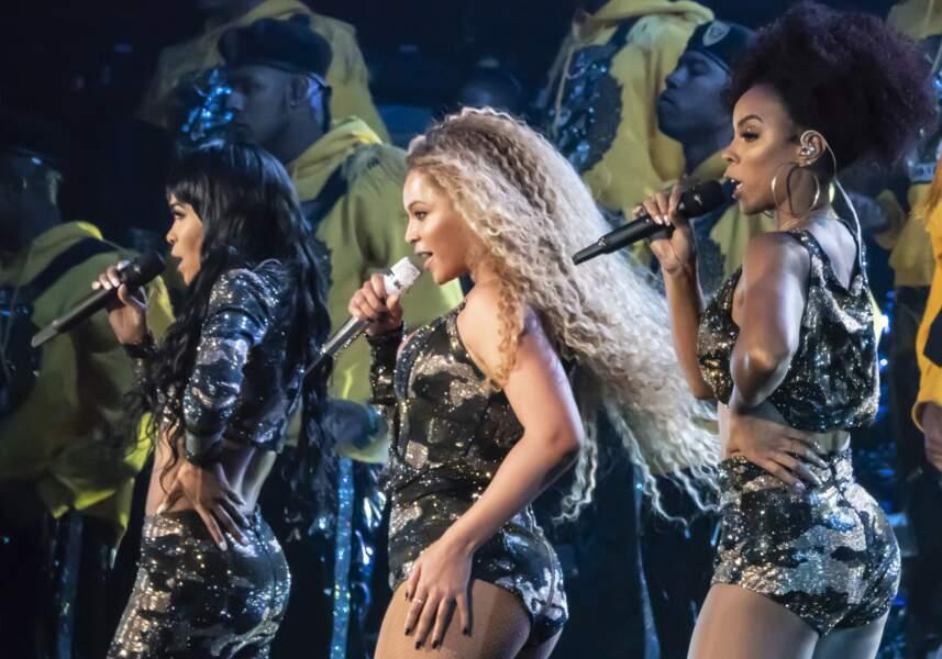 Reformation des Destiny's Child pour Coachella dans trois uniformes Balmain.