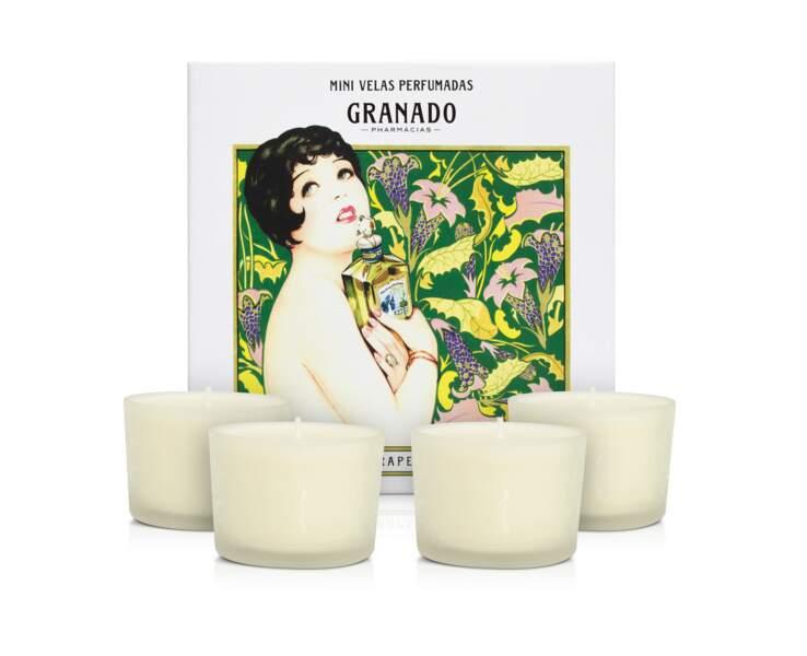 Pour votre intérieur, choisissez ce joli coffret de bougies parfumées.