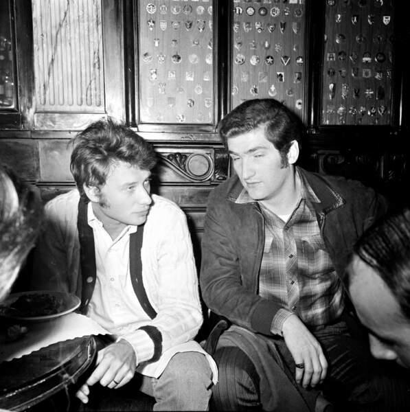 Johnny Hallyday et Eddy Mitchell à Paris en 1965