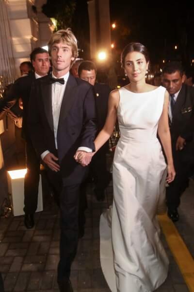 Alessandra de Osma et Christian de Hanovre au dîner de gala de leur mariage le 16 mars 2018 à Lima au Pérou