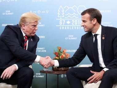 PHOTOS- Une poignée de main entre Donald Trump et Emmanuel Macron qui laisse des traces
