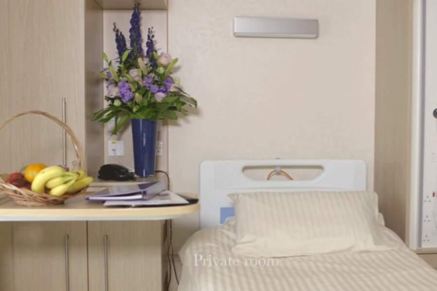 L'une des chambres privées de la Lindo Wing Hospital