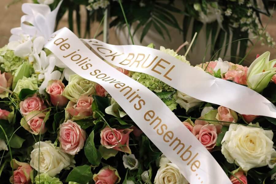 Les fleurs offertes par Patrick Bruel : Obsèques de Maurane en l'église Notre-Dame des Grâces à Woluwe-Saint-Pierre