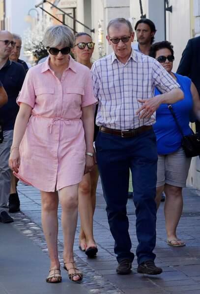 La ministre britannique Theresa May est en vacances