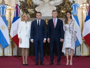PHOTOS - Brigitte Macron renoue avec la jupe courte en Argentine