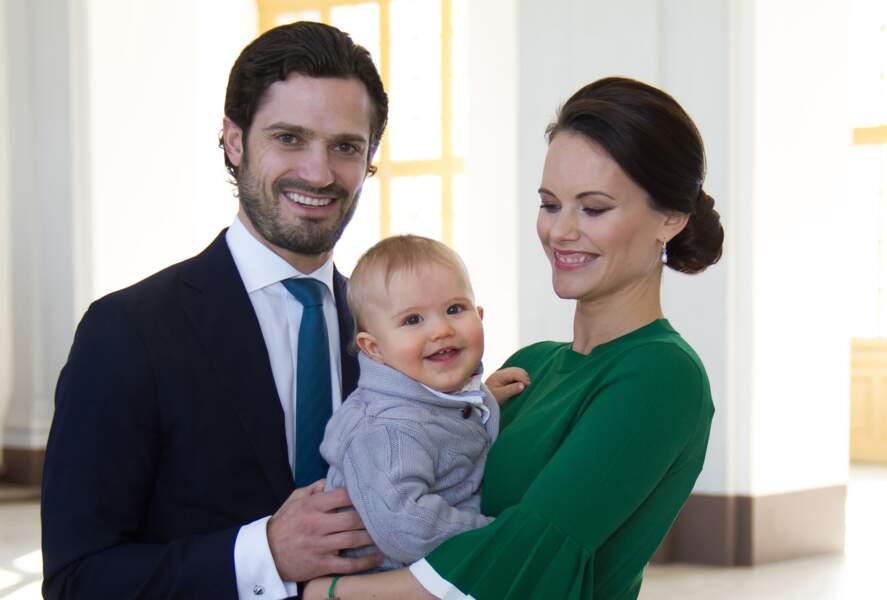 Carl Philip de Suède, son épouse Sofia et Alexander en mars 2017