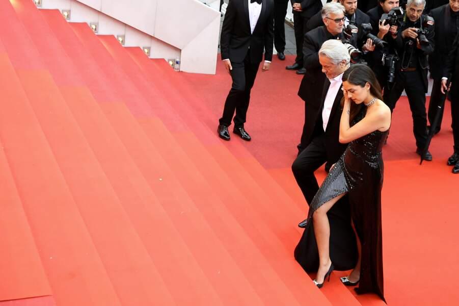 Alain Delon et sa fille Anouchka Delon sur les célèbres marches de Cannes, le 19 mai 2019