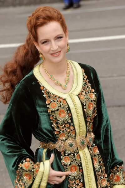 La princesse Lalla Salma du Maroc arrive au couronnement du roi Willem-Alexander des Pays-Bas 30 avril 2013