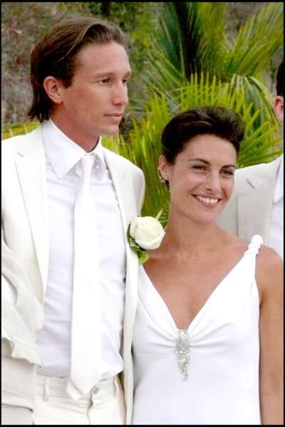 Alessandra Sublet et Thomas Volpi aux anges sur l'île de Saint-Barth en 2008