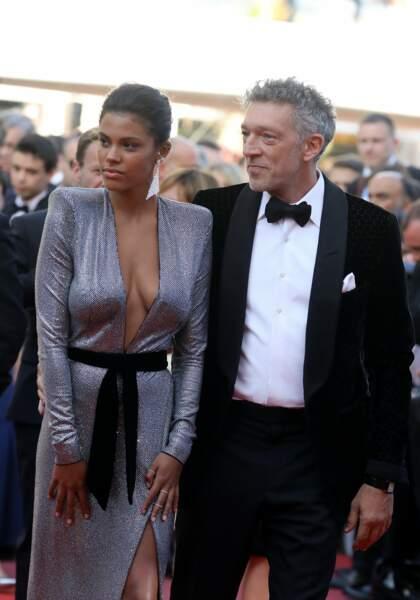 Vincent Cassel et sa fiancée Tina Kunakey