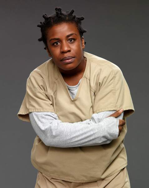 "La comédienne Uzo Aduba, révélée par son rôle de ""Crazy Eyes"" dans la série Orange Is The New Black"