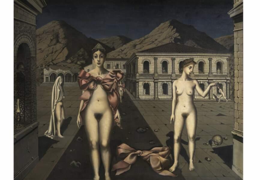 Paul Delvaux, Les nœuds roses, 1937
