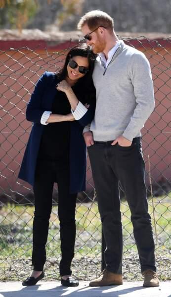 Le prince Harry et Meghan Markle heureux et tendres le 23 février 2019 au Maroc