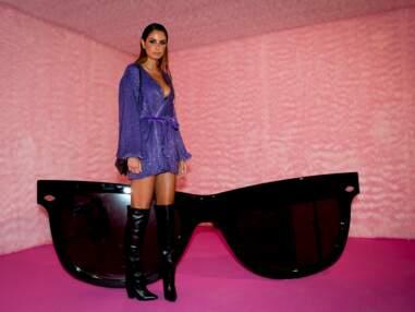 PHOTOS - Malika Ménard fait sensation en robe courte et cuissardes