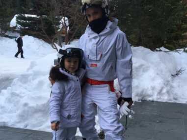 La famille Beckham au ski