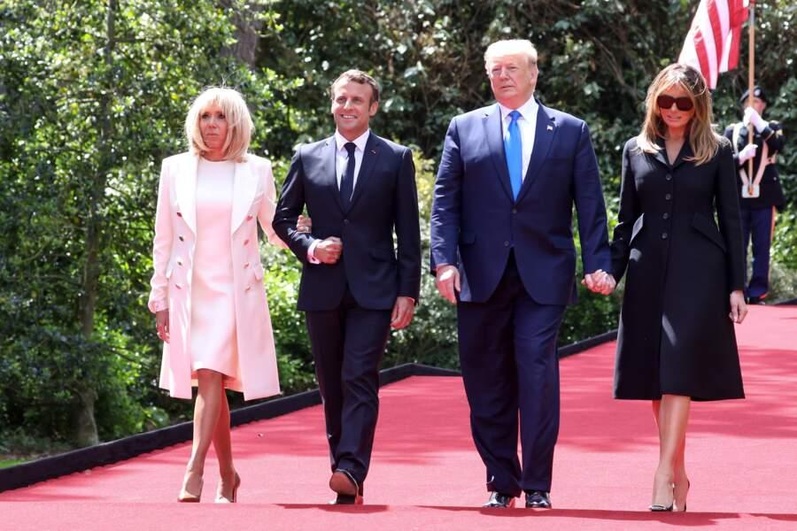 Dans le cadre du 75ème anniversaire du débarquement, Brigitte Macron et Melania Trump avaient partagé un déjeuner