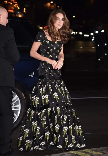 Kate Middleton, à son arrivée à la National Portrait Gallery de Londres, le mardi 12 mars 2019