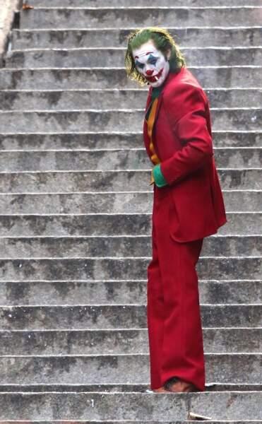 Joaquin Phoenix sur le tournage du film The Joker