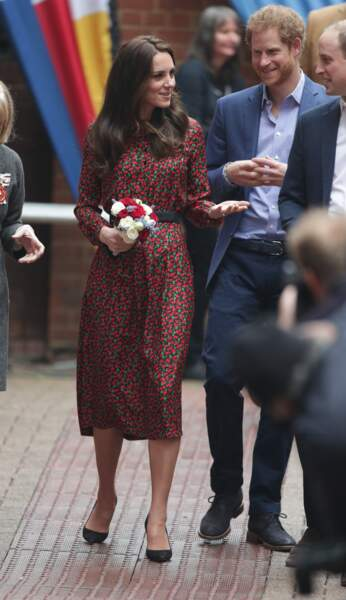 Kate Middleton en robe longue
