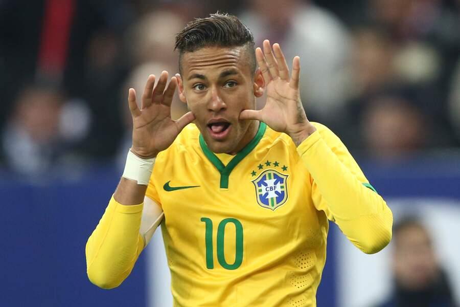 Lors du match amical France Brésil en 2015
