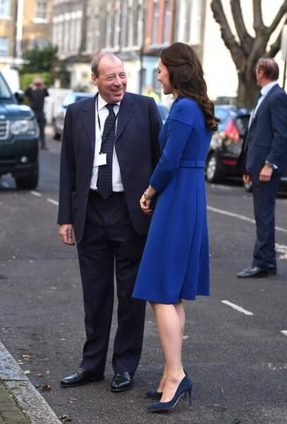Kate Middleton a visité le centre Anna Freud à Londres, le 11 janvier 2017.