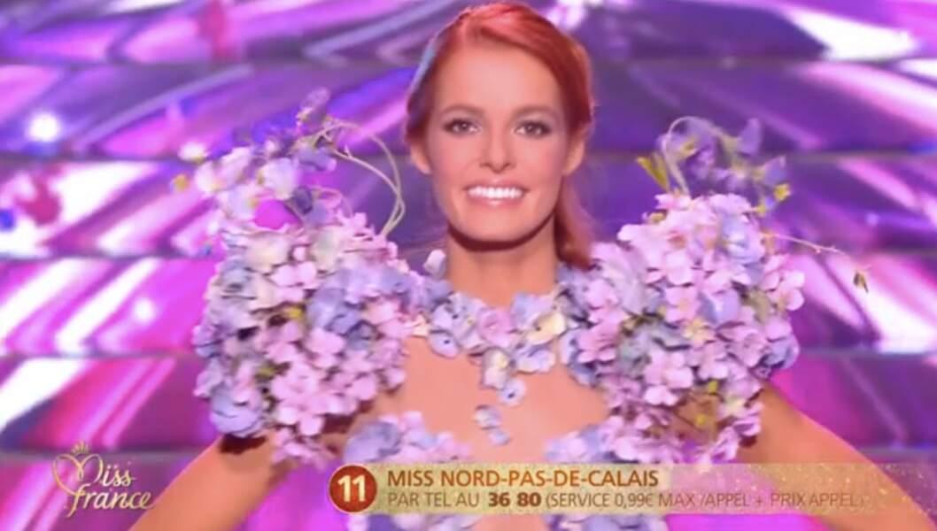 Maeva Coucke lors de la grande soirée Miss France