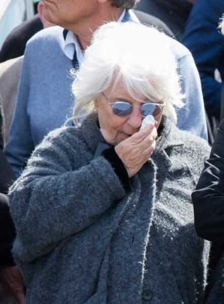 Catherine Lara en larmes - Obsèques de Maurane en l'église Notre-Dame des Grâces à Woluwe-Saint-Pierre
