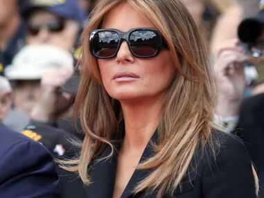 Melania Trump visage fermé et lunettes de soleil