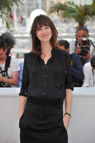 Charlotte Gainsbourg enceinte à Cannes en 2011 de son troisième enfant