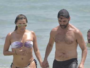 Eva Longoria, en bikini entre séance de volley et baignade