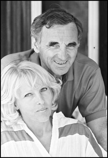 Charles Aznavour et sa femme Ulla en 1982