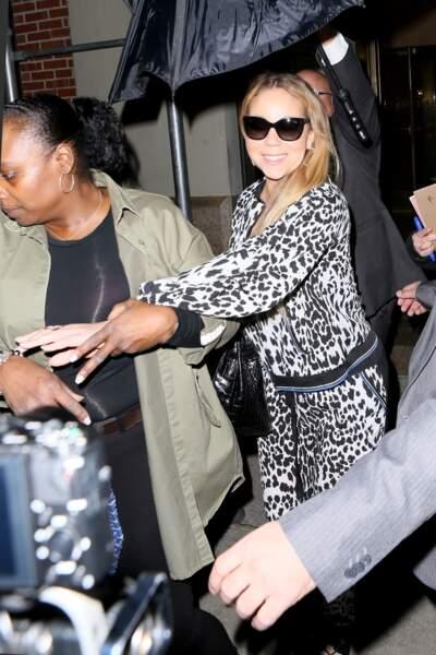 Mariah Carey se rend au théâtre Beacon