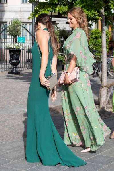 La princesse Sofia de Suède, le 14 juin 2018, avec la même robe… ou presque : son dos n'est pas nu !